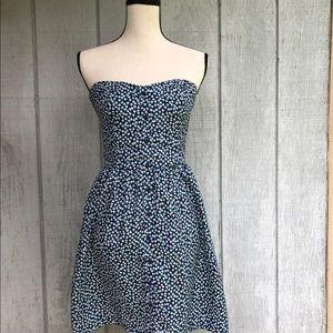 Gap corset strapless dress